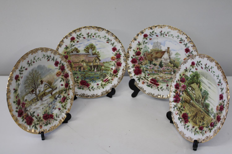"Four Royal Albert ""Four Season"" collectors plate 20cm in dia"