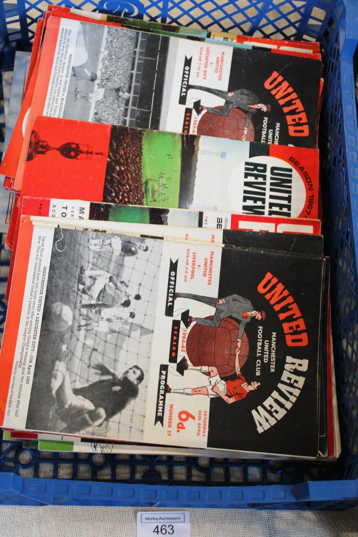 A job lot of vintage Manchester United programmes