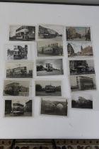 Fifteen vintage Leeds tram postcards