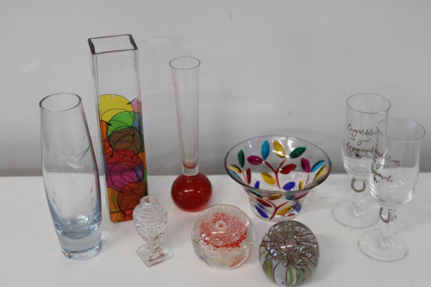 A selection of assorted glass ware etc