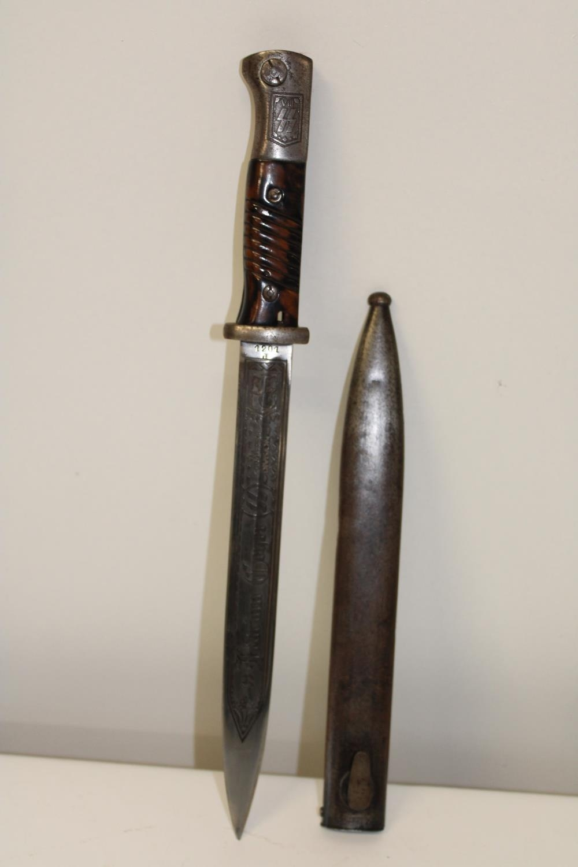 A re-production German Bayonet. Bayonet length 38cm