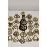 A selection of antique horse brasses