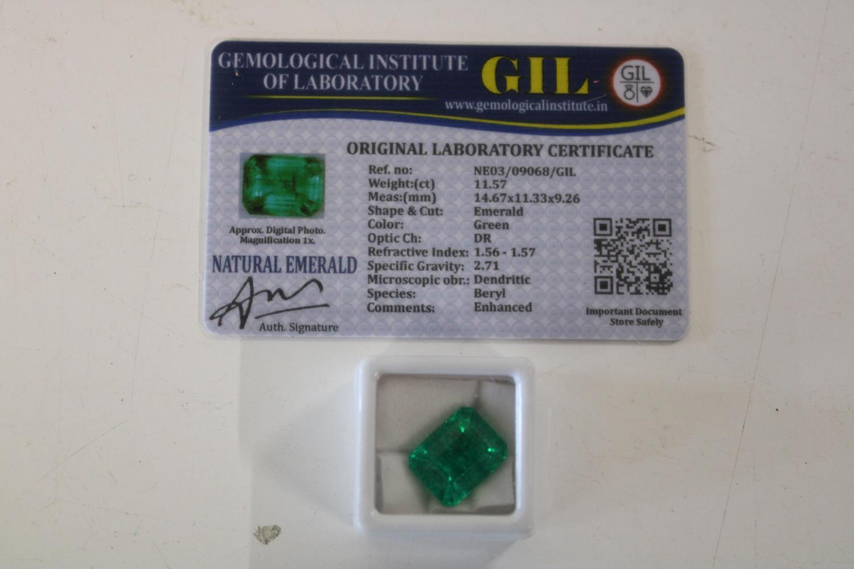 A Emerald gemstone & certificate