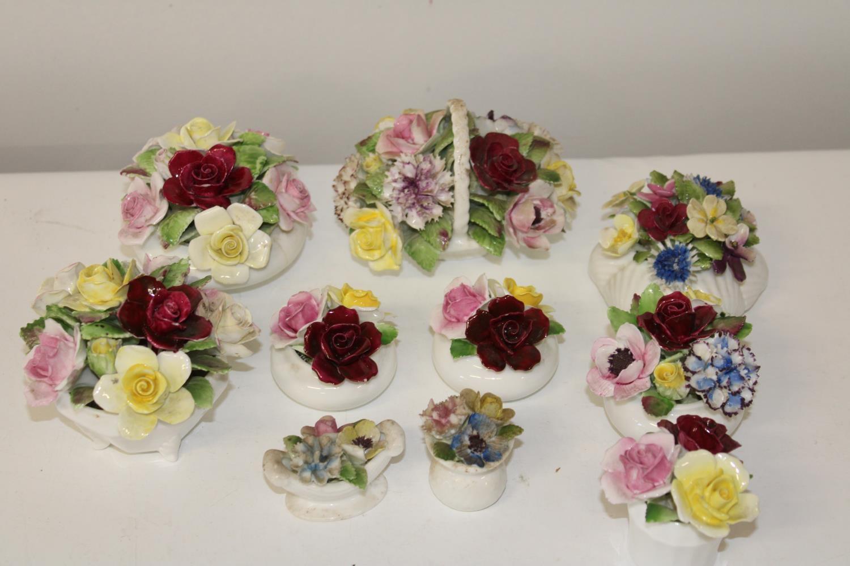 Ten Royal Doulton ceramic posies