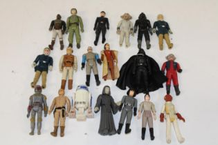 A selection of vintage Star Wars figures, from the 70's & 80's.