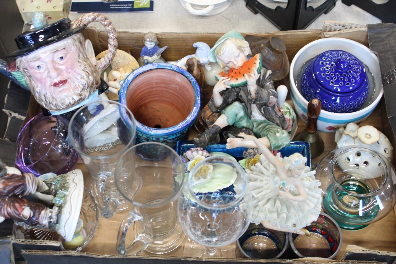 A job lot of assorted ceramics & other items
