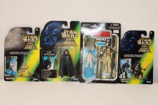 Four boxed vintage Star Wars figures