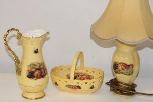 Three pieces of vintage Ainsley ware