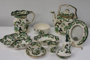 A job lot of Mason's 'Chartreuse' ironstone ware