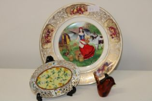 A Royal Worcester collectors plate & other