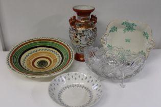 A selection of vintage ceramics & glassware etc