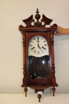 A vintage 31 day wooden cased wall clock collection only