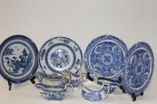 A job lot of 18th & 19th century blue & white pottery (Sold as found)