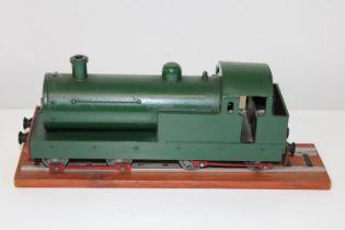 A scratch built wooden locomotive w39.5cm