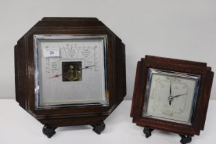Two antique mahogany cased barometers