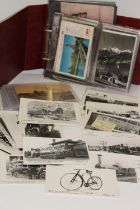 A selection of transport related postcards & other