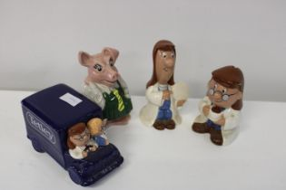 A collection of novelty ceramics
