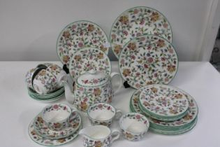 A large selection of Minton Haddon Hall pattern bone china 29 pieces