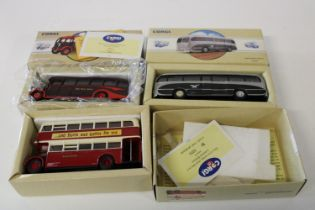 Three boxed Corgi bus models