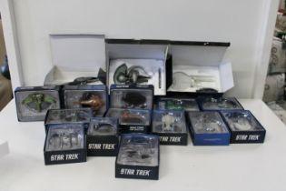 A large selection of Star Trek models