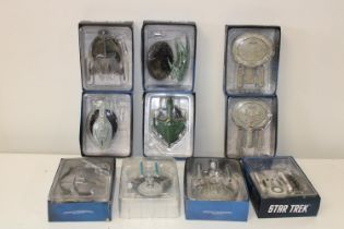 A selection of Star Trek models