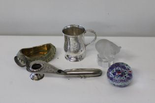 An assortment of various collectable items
