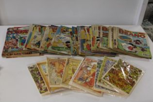 A job lot of vintage Beano comics & new occasional cards
