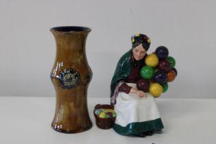 A Royal Doulton figure HN 1315 & Royal Doulton vase