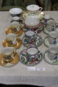 Job lot of Oriental cups and saucers