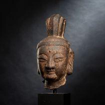 AN IRON HEAD OF GUANYIN