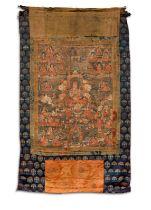 A VERY RARE THANGKA , POSSIBLY TSARCHEN LOSAL GYATSO (1502-1566)