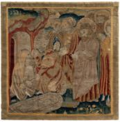A RARE SMALL SIZE RENAISSANCE TAPESTRY PANEL