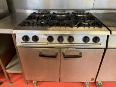 Falcon Dominator 6 Burner Plus Oven Range (GAS)