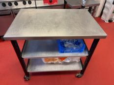 Stainless Steel Topped Mobile Prep Station