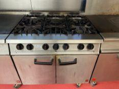 Falcon Dominator 6 Burner Plus Oven Range (GAS)