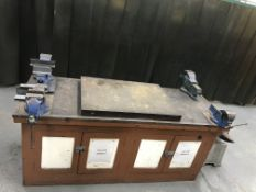 Heavy Duty Work Bench And 4 Vices