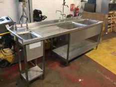 Large Stainless Steel Sink Unit