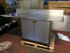 Stainless Steel Counter with cupboard plus wired sockets