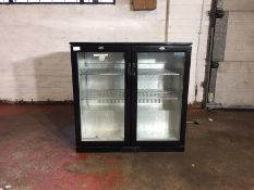 Black Polar 2 Door Glass Fronted Fridge