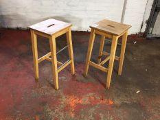 Wooden Stools x 2
