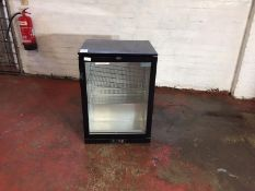 Black Polar Single Door Glass Fronted Fridge