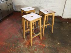 Wooden Stools x 3