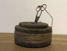 Wooden Spool With Jute String & Scissors