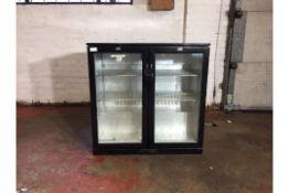 Polar 2 door glass fronted fridge