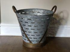 Metal Olive Bucket