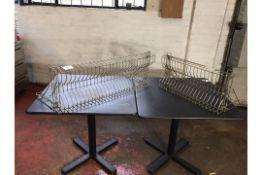 Stainless steel plate racks