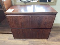 Wooden 2 Drawer Side Unit