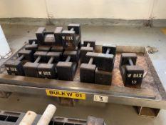 Metal Pallet of weights