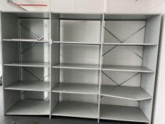 Metal Shelving unit 12 Shelves