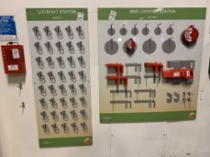 Lock Out Station Boards and lock box